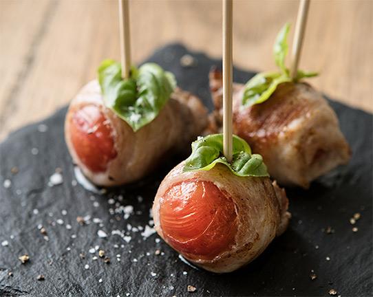 ミニトマトの豚バラ肉巻きの画像