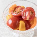 ミニトマトとカラーピーマンのマリネの画像